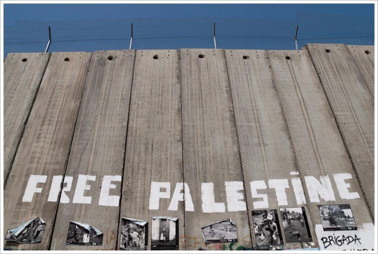 Palestine 2009. Israel's Wall in Bethlehem, West Bank.